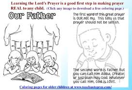 free lord u0027s prayer coloring pages for children