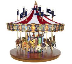 mr flag carousel with lights and qvc
