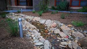Rock Backyard Landscaping Ideas by Dry Creek Bed Youtube