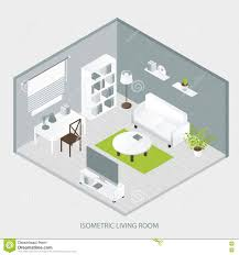 isometric home interior design stock vector image 74877360