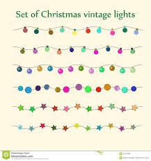 christmas string lights vector set stock vector image 61531889