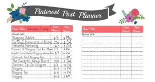 printable planner free pinterest how we 4x ed our pinterest traffic in 3 weeks