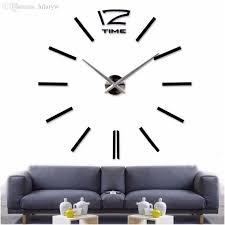Free Shipping Home Decor Wholesale 2016new Home Decor Big Wall Clock Modern Design Living