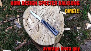 hom design specter balisong youtube