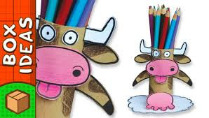 diy pencil holder cow craft ideas for kids on boxyourself