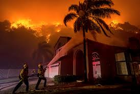 Wildfire Credit Union Hours by California Firefighters Hose Down Blaze Ahead Of Wind Gusts