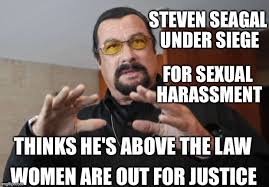 Sexual Harassment Meme - steven seagal under siege for sexual harassment thinks he s