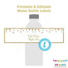 shop baby shower water bottle labels on wanelo