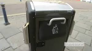 solar powered compacting bin to reduce trash collections youtube