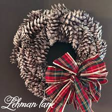 how to make a pine cone wreath lehman lane