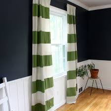 Stripe Curtain Panels Sew Your Own Preppy Striped Drapery Fabric Panels Modhomeec