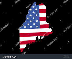 Map Of Maine Usa by Map State Maine American Flag Jpg Stock Illustration 13771654