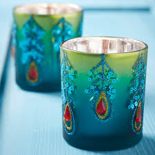 blue tea light candles peacock tea light candle holder by the christmas home