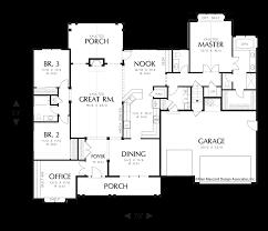what is a split floor plan mascord house plan 22158 the willard