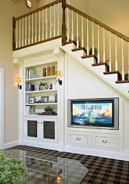 Living Room With Stairs Design Below Stairs Living Room Ideas Stair Storage Storage Ideas And