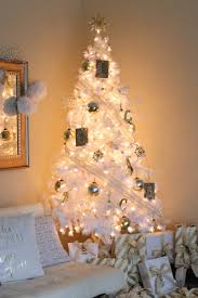 White Christmas Tree With Gold Decorations Christmas Home Tour Styleanthropy At Home