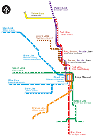 cta line map chicago l org system maps track maps