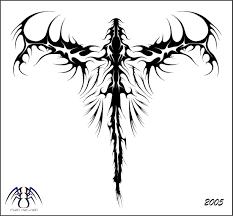 tribal dragon back tattoo 2015
