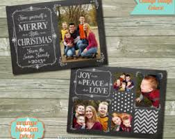rustic christmas holiday card photoshop template