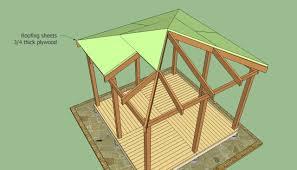rectangular gazebo building plans pergola design ideas