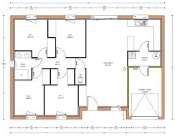 plan de maison de plain pied avec 4 chambres plan de maison 4 chambres maisons plain pied 1 homewreckr co