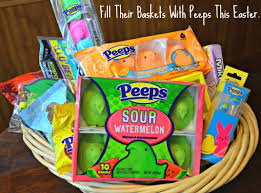 peeps easter basket fill their baskets with peeps this easter