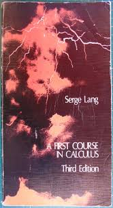 a first course in calculus by serge lang abebooks