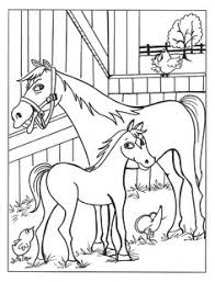 horse coloring mare sleeping foal horse stuffde