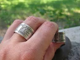 duck band wedding ring custom duck goose band ring sterling finger sz 6 9 5