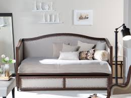 daybed unique wood and metal daybed with pop up trundle skirt