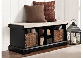 entry way storage bench cf6003 bk brennan entryway storage bench in black