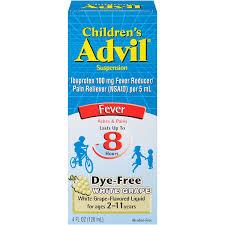amazon com advil children u0027s fever reducer pain reliever dye free