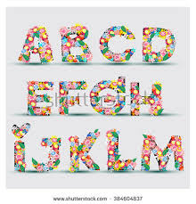 vector font made color letters alphabet stock vector 104491076