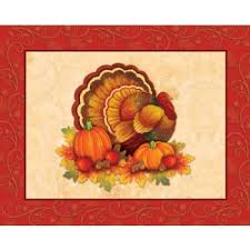 thanksgiving scroll placemats printed paper placemats