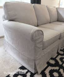 Charcoal Slipcover Relaxed Linen And Cotton Slipcover Transforms This Classic