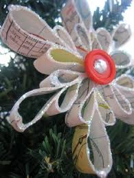 set of 3 snowflake ornaments upcycled vintage night before