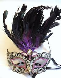 silver mardi gras mask gorgeous silver purple and black feather topped mardis gras mask