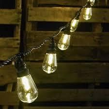 led edison string lights commercial led edison string lights 16 foot black wire warm white