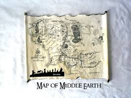 Map Middle Earth Lord Of The Rings Map Middle Earth Map The Hobbit Map On