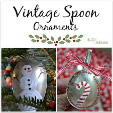 christmas crafts vintage spoon ornaments lilacs and