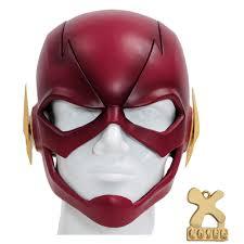 aliexpress com buy the flash mask full head helmet cosplay props