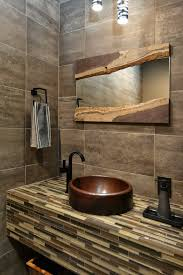 Houzz Modern Bathrooms Houzz Bathroom Mirrors Powder Room Contemporary With Raised Sink