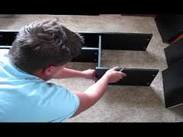 mainstays l shaped desk with hutch unboxing and assembling mainstays l shaped desk with hutch youtube