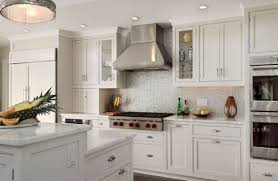 examples of kitchen backsplashes tiles backsplash white cabinets black countertops gray walls