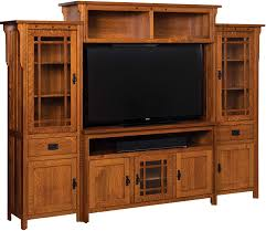Mission Style Computer Desk With Hutch by Entertainment Centers Amish Furniture By Brandenberry Amish