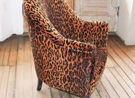 faux leopard upholstered turtle form ottoman probably witco
