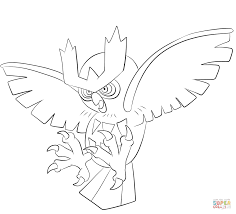 noctowl coloring page free printable coloring pages