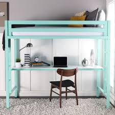 twin metal loft bed with workstation mint free shipping today