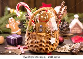 various treats decorations on table stock photo