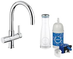 grohe 31312000 grohe blue pure dual function kitchen faucet hot grohe 31312000 grohe blue pure dual function kitchen faucet hot and cold water dispensers amazon com